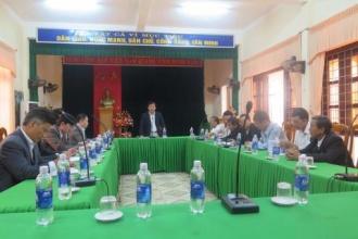 Hội nghị bàn về công tác vệ sinh môi trường ở khu vực trung tâm xã Sơn Trạch và dọc hai bên bờ sông Son
